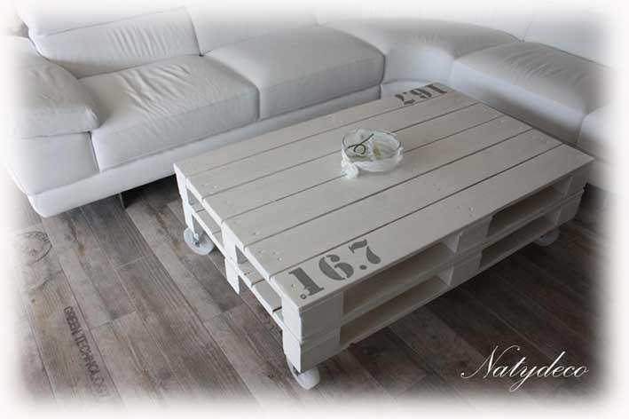 table de salon en palette maison design. Black Bedroom Furniture Sets. Home Design Ideas