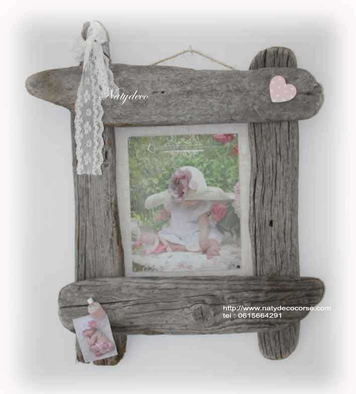 Decoration en bois flott for Cadre photo bois flotte