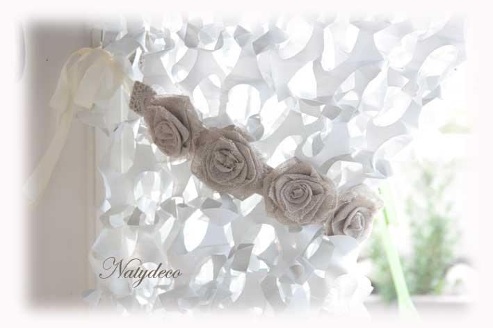 Camouflage blanc - Embrasse rideau originale ...