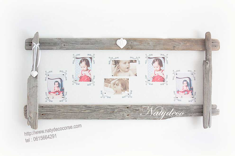 Decoration en bois flotte for Cadre photo bois flotte